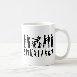 Business Men and Women Silhouettes Coffee Mug