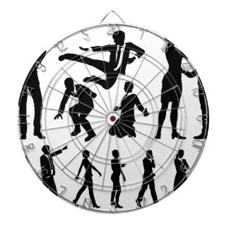 Business Men and Women Silhouettes Dartboard
