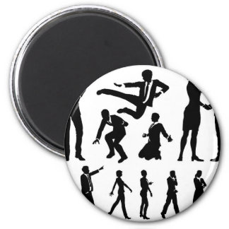 Business Men and Women Silhouettes Magnet