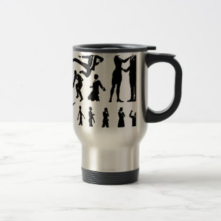 Business Men and Women Silhouettes Travel Mug
