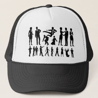 Business Men and Women Silhouettes Trucker Hat