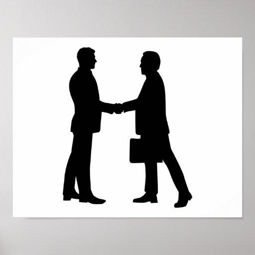 Business men shake hands poster