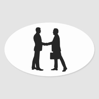 Business men shake hands stickers