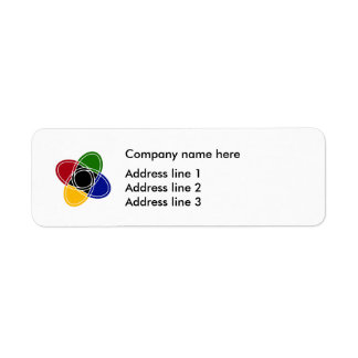 Business Modern Logo Address Template Labels