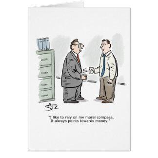 Business moral compass congratulations card