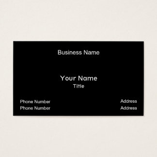 Business Name, Your Name, Title, Phone Number, ... Business Card