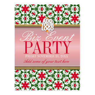 Business Office Holiday Party Invitation template Postcard