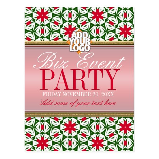 Business Office Holiday Party Invitation template Post Card