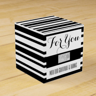 Business office logo black white DIY Favour Boxes