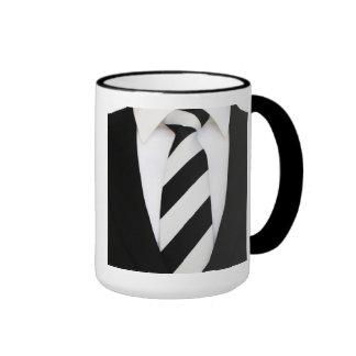 Business Office Men Tie Suit Pattern Stripes Coffee Mugs