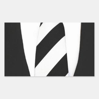 Business Office Men Tie Suit Pattern Stripes Rectangular Sticker