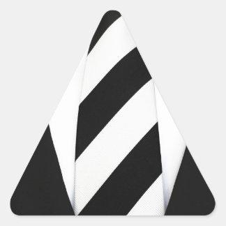 Business Office Men Tie Suit Pattern Stripes Triangle Sticker