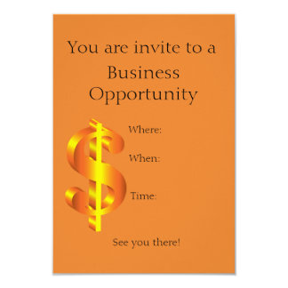 Business opportunity invitation