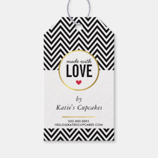 BUSINESS PACKAGING made with love black chevron