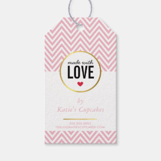 BUSINESS PACKAGING made with love pink chevron