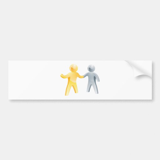 Business partnership concept bumper stickers