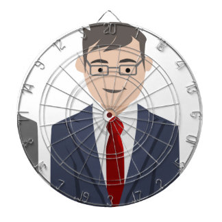 Business People Drawing Dartboard