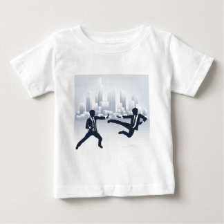 Business People Kung Fu Fighting Baby T-Shirt