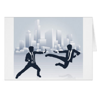 Business People Kung Fu Fighting Card