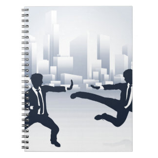 Business People Kung Fu Fighting Notebook