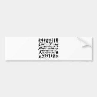 Business People Silhouettes Big Set Bumper Sticker