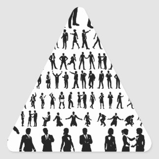Business People Silhouettes Big Set Triangle Sticker