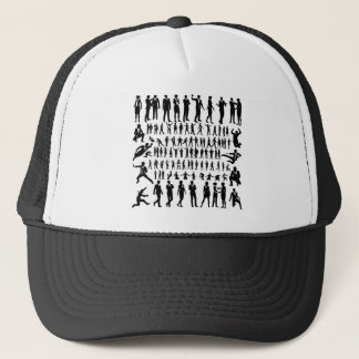 Business People Silhouettes Big Set Trucker Hat