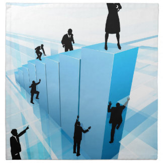 Business People Silhouettes Success Concept Napkin