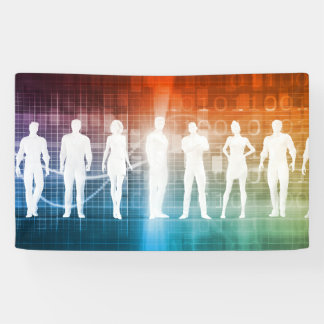 Business People Standing in a Row Confident