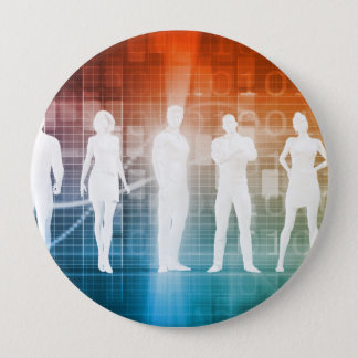 Business People Standing in a Row Confident 10 Cm Round Badge