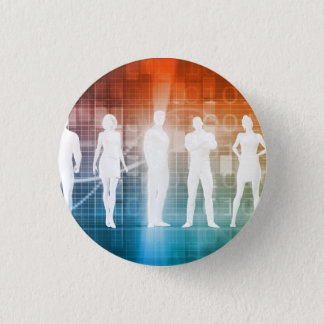 Business People Standing in a Row Confident 3 Cm Round Badge