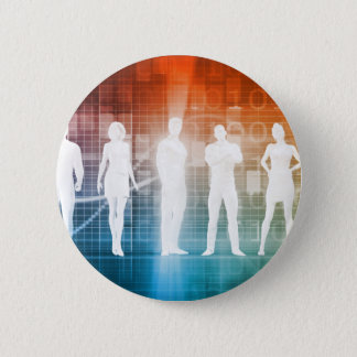 Business People Standing in a Row Confident 6 Cm Round Badge