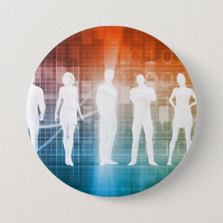 Business People Standing in a Row Confident 7.5 Cm Round Badge