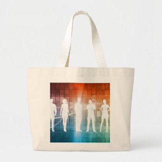 Business People Standing in a Row Confident Large Tote Bag