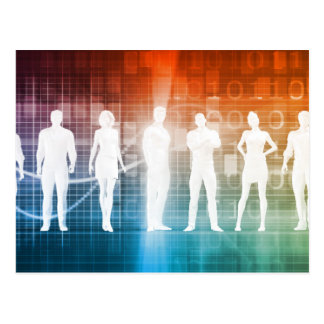 Business People Standing in a Row Confident Postcard