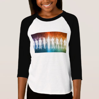 Business People Standing in a Row Confident T-Shirt
