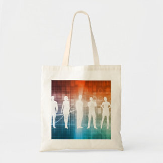 Business People Standing in a Row Confident Tote Bag