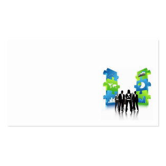 Business-People-Team-with-3D-Puzzle-Pieces BUSINES Business Card Templates