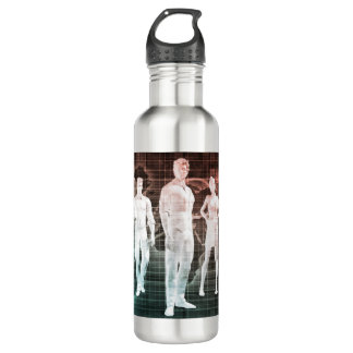 Business People Working Together on an Internation 710 Ml Water Bottle