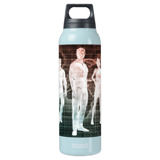 Business People Working Together on an Internation Insulated Water Bottle
