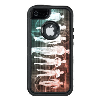 Business People Working Together on an Internation OtterBox Defender iPhone Case