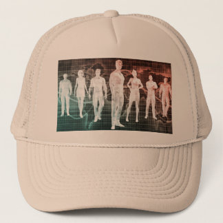Business People Working Together on an Internation Trucker Hat