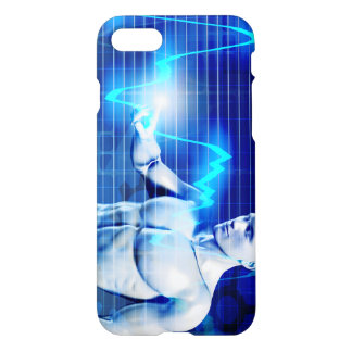 Business Person Touching Active Charts and Diagram iPhone 7 Case