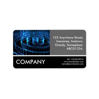 Business Photo - Spiral Address Label