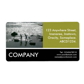 Business Photo - Stepping Stones - Olive Green Shipping Label