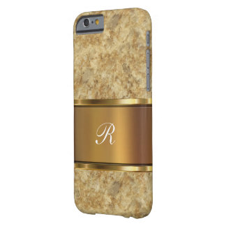 Business Professional Monogram Initials Barely There iPhone 6 Case