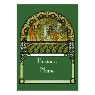 Business Profile Card Vintage Art Pack Of Chubby Business Cards
