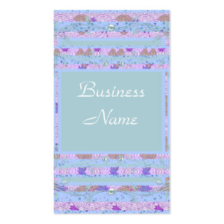 Business Profile Card Vintage Blue Lilac Pack Of Standard Business Cards