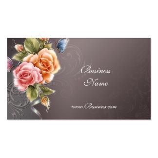 Business Profile Card Vintage Pink Roses 2 Business Card