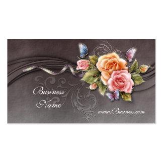 Business Profile Card Vintage Pink Roses 2 Pack Of Standard Business Cards